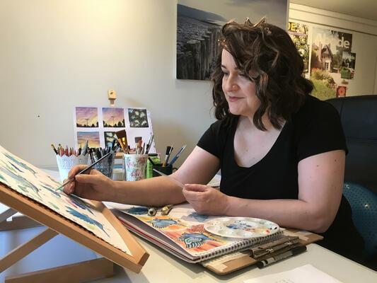 Gabrielle Vickery at work