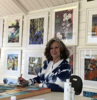 Susan Chester in her studio