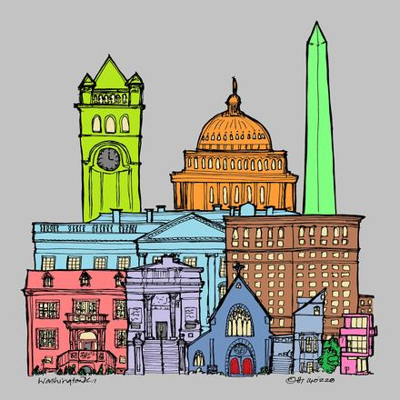 A history of Washington DC - in pop colours