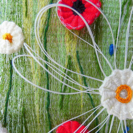 Lucy Sugden Woven Tapestry Meadow Series