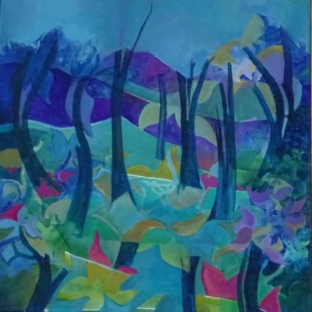 Dancing Forest Abstract style Acrylic Painting