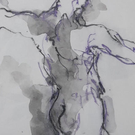 ink and crayon drawing (detail)