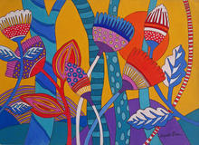 Anneli Boon - Forest flowers, colourful stylised flowers
