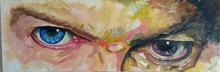 David Bowie Eyes Only Starman painting portrait