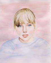 Taylor Swift Watercolour Portrait