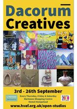 a wonderful selection of work from Dacorum based artists