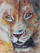 Paint your own colourful Tiger with amazing Brusho pigments!