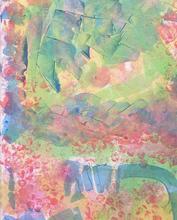 abstract mixed media group painting