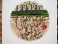 TreeWide - Glass Wall Plaque created by glass artist Sharon Korek
