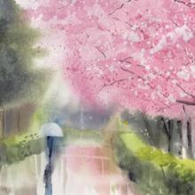 Spring Blossom watercolour video tutorial