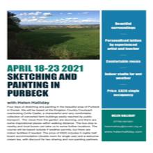 Sketching and Painting in Purbeck with Helen Halliday April 18-23 2021