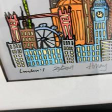 London1 signed print Hillary Taylor