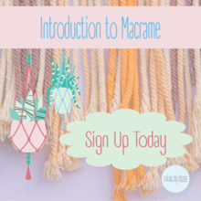 Introduction to Macrame - find out about some basic knots, the materials and tools you need to get started...