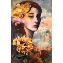 Let the sunshine in oil painting, Marcela Díaz