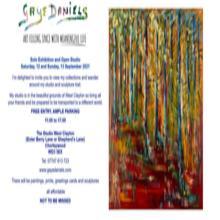 Solo art and sculpture exhibition invitation